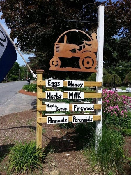 Sign outside of Marshall Farm